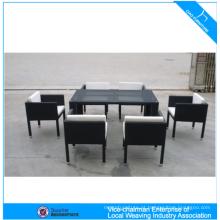 Conjunto de mesa de jantar de restaurante Conjunto de mesa de jantar de vime e cadeiras