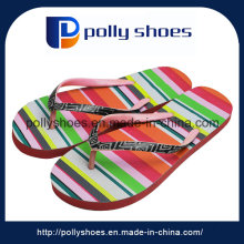 China Wholesale Flat Sandals Women, Square Printed 15mm Insole Flip Flops