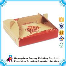 Boîte de livraison de papier de pizza rond fait sur commande écologique qui respecte l'environnement