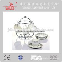 Onglazed de porcelana de gres drinkware té café conjunto taza y platillo