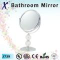 7 polegadas de cristal cosmético Stand banheiro espelho