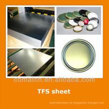 EN10202 standard Tin kostenlos aus Stahlblech für Lebensmittel, Getränke können enden