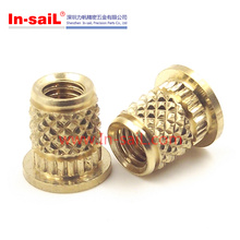 2016 China Supplier Knurled Brass Inserts for Plastics Shenzhen Manufacturer