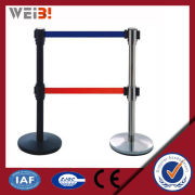 Stanchion Chrome Display Stand For Belts