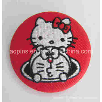 Insigne de bouton de bidon de broderie de Hello Kitty de haute qualité (bouton badge-68)