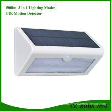 Lumière solaire rechargeable rechargeable de détecteur de mouvement de 36 LED
