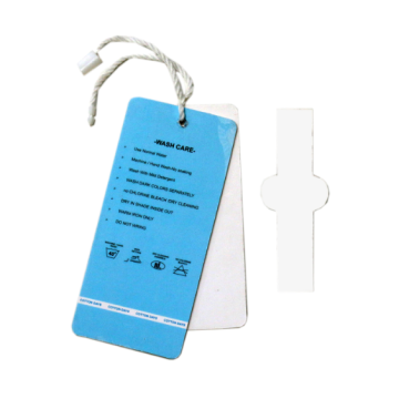 Luxe gerecycled kledingstrengpapier hang tag