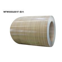 Hojas de laminado de metal de grano de madera