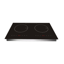 Hot Sale Touch Control Double Induction Cooker with Metal Body