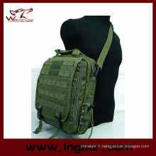 Imperméable à l'eau Tactical Sling Bag armée main sac ordinateur portable sac sac à dos