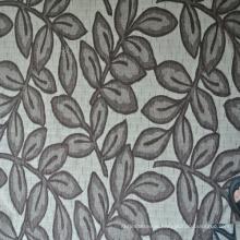Jacquard Leaf Design Chenille Jacquard Fabric