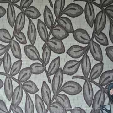 Jacquard Leaf Design Chenille Jacquard Stoff