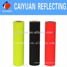 Fita reflexiva de CY cinza prata costurar no colete Refletor preto em estoque