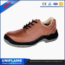Sapatos de trabalho de segurança de couro de mulheres de PU de dedo de sol de couro cor de rosa