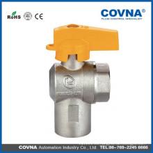 Válvula de bola de la mano del gas natural para la cocina casera