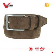 Men Suede Leather Belt in 1.3 ''