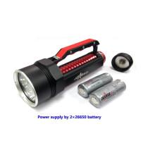 Jexree Équipement menant au camping SJ-D02 lampe à LED tactique 4000LM lampe torche rechargeable 2 * 26650 torche