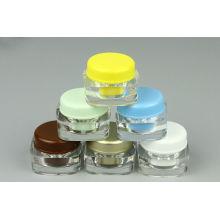 5g Mini Plastic Acrylic Square Jar W/ Round Cap (EF-J39)