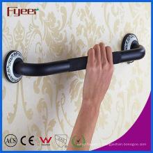Barres d'appui antidérapantes de sécurité de main courante en laiton de poignée de main noire de Fyeer