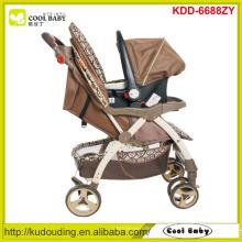 Carrinho de criança de bebê novo China 2 a 1 carrinho de bebê ajustável da altura da alça com carseat