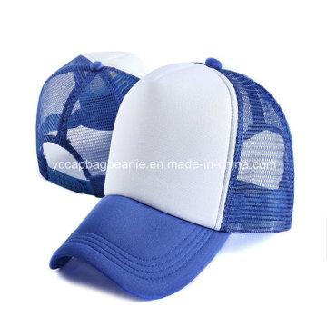 Chapéu em branco relativo à promoção do camionista, tampão da malha