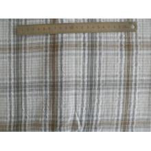 32′s algodón Seersucker Crimp paño hilado teñido de tela