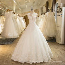 SL-1 New Arrival A-Line Sleeveless Tulle Lace Appliques 2016 Wedding Dress