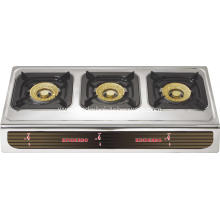 3 burner Stainless Steel Gas Stove Cooktop