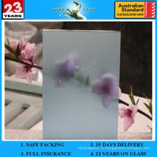 4-12-миллиметровое озерное сине-коричневое оцинкованное матовое стекло с AS / NZS2208: 1996