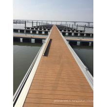 WPC Dock WPC Decking Decking-terrasse en bois en bois en composite et en composite