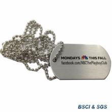 Tag de cão de aço inoxidável do exército com impressora