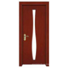 Diseño clásico simple de la venta caliente con estilo Puerta de madera sólida