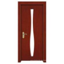 Elegante Venda quente Design clássico simples Porta de madeira sólida