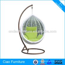 Fashionable Outdoor Furniture garden White Round Swing Chair