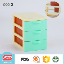 fashionable design tabletop mini 3 layer plastic storage box with drawer
