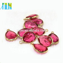 Newly 10*14mm Crystal Water Drop Connector, Rose teardrop glass pendant murano