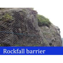 Barreras de roca de la cuerda de alambre
