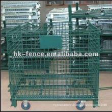 High Quality PVC Coated Wire Container/Wire Container Cage