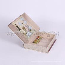 Empaquetado de caja de regalo de papel de forma de libro de impresión personalizado clásico