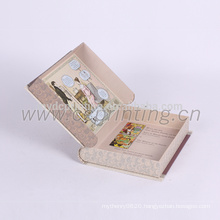 Classical custom printing book shape paper gift box packaging