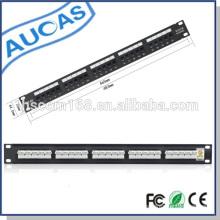 Rj45 cat5e panel de remiendo de voz cat6 / 25/50 puertos rj11 panel de patch de voz / panel de parche de voz impermeable al aire libre
