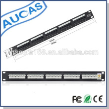 rj45 cat5e cat6 voice patch panel / 25/50 ports rj11 voice patch panel/outdoor waterproof voice patch panel