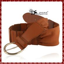La dernière ceinture en cuir design, ceinture en cuir verni marron pour femmes