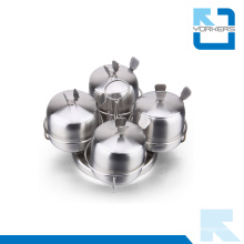 Stainless Steel Spice Rack Set / Salt and Pepper Shaker