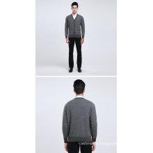 Yak Wool/Cashmere V Neck Cardigan Long Sleeve Sweater/Garment/Clothing/Knitwear