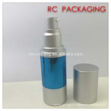 30 ml de bouteille sans air, bouteille sans cosmétiques en aluminium, bouteille de pompe à pulvérisation