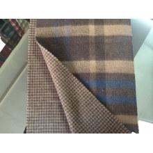 Lenço de cashmere reversível homens tartan cs15081901