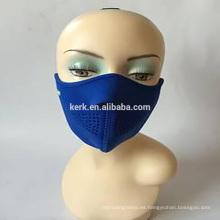 Protección contra el viento de la cara de esquí media máscara de mascarilla de neopreno caliente