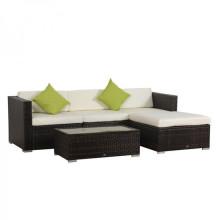 Outdoor Rattan Wicker Sofa Set mit Couchtisch