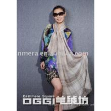 100% cashmere lenço jacquard / xale com lenço wrie / moda